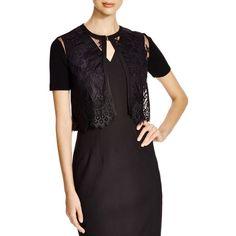 Elie Tahari Kierney Cardigan ($320) ❤ liked on Polyvore featuring tops, cardigans, black, elie tahari tops, black cardigan, elie tahari and black top