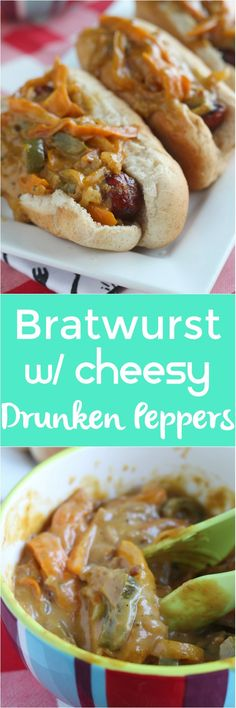 Kick off grilling season with a delicious topper for your Klement's Smoked Bratwurst! Using Wisconsin beer, cheese and a onion/pepper combo, this simple topping will be a hit at any BBQ. via @DashOfEvans