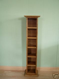 CD Tower Storage Rack Floor Standing Solid by appletreewoodcrafts