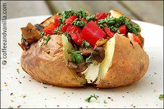 Healthy Fast Food - Mushroom & Cream Cheese Jacket Potatoes