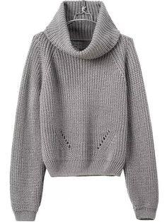 Shop Turtleneck Crop Grey Sweater online. SheIn offers Turtleneck Crop Grey  Sweater  amp  more 653842478