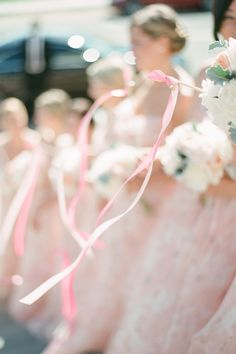 #ribbon-wands  Photography: Brklyn View Photography - www.brklynview.com  Read More: http://www.stylemepretty.com/2014/08/21/blush-and-gold-seaside-wedding-in-montauk/