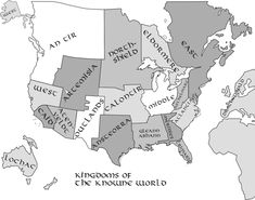 Map of the Known World (SCA) with links to all the kingdoms.