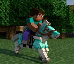 Steve with a diamond horse btw Steve is the default skin of Minecraft Minecraft Horse, Minecraft Houses Survival, Minecraft Fan Art, Minecraft Party, Minecraft Skins, Minecraft Stuff, Minecraft Ideas, Armadura Minecraft, She Wolf