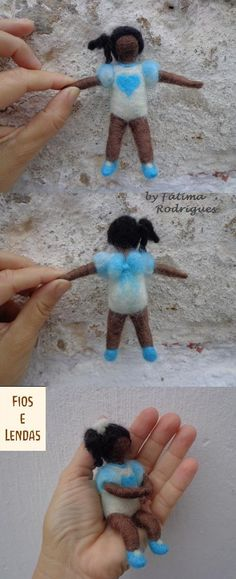 Modelo para a Oficina de Feltragem, boneca articulada. fioselendas@gmail.com