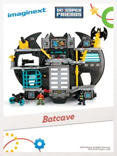 Kids love helping Batman™, and his sidekick Robin, take on crime-fighting action at the Batcave! For a chance to win, click here: http://fpfami.ly/01497 #FisherPrice #Toys #Imagination