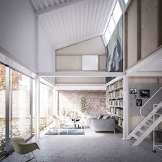 faf house with a saw tooth roof sweden designboom