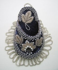 Victorian Beadwork - 2 Watch Holders + Matching Beaded Wall Pocket on Etsy, $203.02 AUD