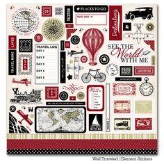 Stickers rétro tour 6pcs pour bricolage scrapbooking carte Journaling