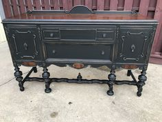 Black Buffet, Antique Buffet, Side Board, General Finishes, China Cabinets,  Pent House, Paint Furniture, Chalk Paint, Amy Howard
