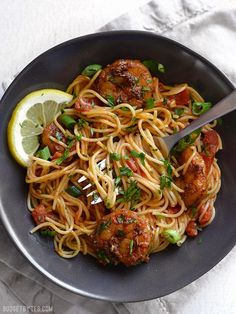 Blackened Shrimp Pasta - A 30 minute Pasta Dinner with Fresh Shrimp, Homemade Blackening Seasoning, Tomatoes, and Fresh Herbs. - BudgetBytes.com
