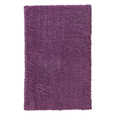 Faux Sheepskin Purple 10 ft. x 13 ft. Area Rug