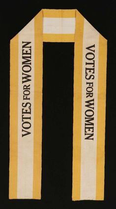 Rare Suffragette Sash Made of Silk Ribbon (1910)