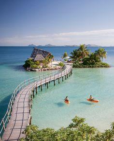 Likuliku lagoon en las islas Fiyi