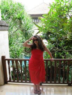 On the balcony at Puri Santrian in Sanur, Bali