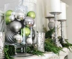 All White Christmas Decorating Ideas - Elegant Mantlepiece - Click Pic for 25 DIY Holiday Decorating Ideas