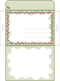 Free printable rose border envelope.