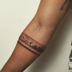 Armband Tattoos For Men, Armband Tattoo Design, Wrist Tattoos For Guys, Small Tattoos For Guys, Sleeve Tattoos For Women, Mom Tattoos, Wrist Band Tattoo, Forearm Band Tattoos, Tattoo Bracelet