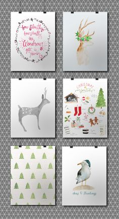 12 Free Christmas Watercolor Printables • Little Gold PixelLittle Gold Pixel
