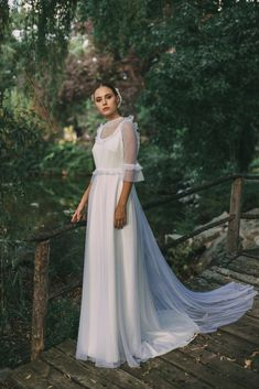 Ruffles and poofy sleeves are making a comeback for your wedding day. Wedding Looks, Perfect Wedding, Dream Wedding, Wedding Stuff, Bridal Dresses, Bridesmaid Dresses, Wedding Attire, Bridal Collection, Wedding Accessories