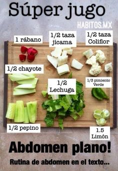 For a Flat Stomach Healthy Juices, Healthy Drinks, Healthy Cooking, Healthy Tips, Healthy Eating, Healthy Recipes, Healthy Food, Detox Drinks, Juice Smoothie