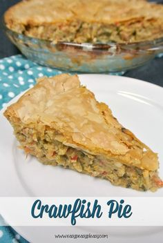Lacie Ring: How Brian and I Cooked Crawfish Pie Together {Foodie Friday} Crawfish Pie, Crawfish Recipes, Cajun Recipes, Pie Recipes, Casserole Recipes, Seafood Recipes, Cooking Recipes, Shrimp Casserole, Seafood