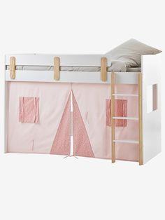 Rideau cabane pour lit mezzanine mi-hauteur Everest bleu - Vertbaudet