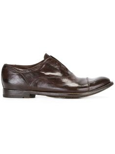 Officine Creative Laceless Oxfords In Brown Officine Creative, Brown Oxfords, Brand You, Brown Leather, Oxford Shoes, Women Wear, Dress Shoes, Lace Up, Footwear