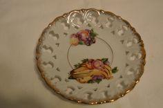 Enesco Japan Saucer Lattice Plate Vintage Item #1719 by BigBlossomAntiques on Etsy