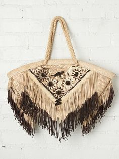 Enshalla Daisies Beach Bag at Free People Clothing Boutique