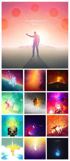 """Worlds"" by Porter Robinson Designed by Chris Liao (designedbybatman)"