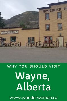 Wayne is a place where you can get a drink at a bar with real bullet holes in the wall in a ghost town said to have real ghosts. It's a fascinating place to visit near Drumheller, Alberta. Best Places To Travel, Cool Places To Visit, Places To Go, Drumheller Alberta, Alberta Travel, Wander Woman, Real Ghosts, Travel Magazines, Train Travel