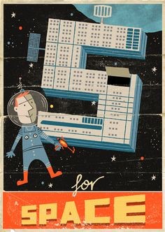 S for Space! (Illustration by Paul Thurlby.)