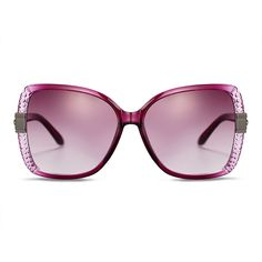 New Fashion Women Cat Eye Summer Sunglasses, DeepPink Plastic Frames and PC Space Lens, Claret-Red