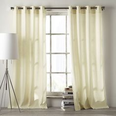 Light touch. In an easy-to-maintain fabric, the Linen Cotton Grommet Curtainl adds subtle texture to a room, while its grommet top adds a modern edge.
