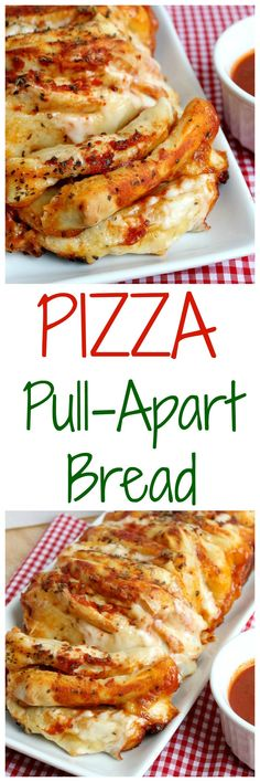 Pizza Pull Apart Bread - the perfect appetizer for any Super Bowl party! Appetizers For Party, Appetizer Recipes, Pizza Appetizers, Italian Appetizers, Yummy Appetizers, Good Food, Yummy Food, Pull Apart Bread, Football Food