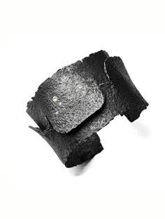 Emanuela Duca: ' Roman Cuff', Blackened silver and diamonds by