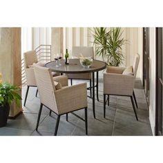 $509 High Seating   Hampton Bay Aria 5 Piece Patio High Dining Set  FCS80223ST