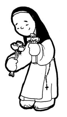 Dibujos para catequesis: SANTA TERESITA DEL NIÑO JESÚS