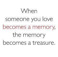 Als iemand van wie je houdt een herinnering wordt. #herinneren
