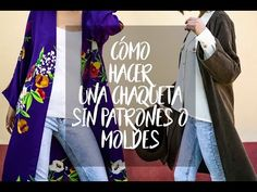 Cómo hacer una chaqueta kimono sin patrones o moldes - YouTube India Fashion, Japan Fashion, Kimono Tutorial, Kimono Sewing Pattern, Refashion Dress, Kendall Jenner Outfits, Victoria Dress, Jacket Pattern, Wool Fabric