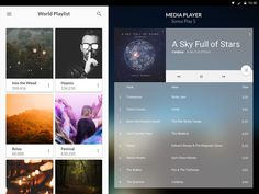 Material Media Player UI
