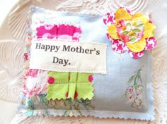 Mother's Day pillow Lavender sachet Happy Mother's by Itsewbella, $7.00