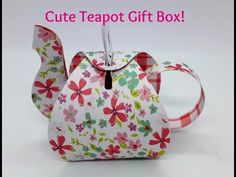 Thank you for stopping by my channel :-) Today i have an adorable Teapot gift box which i made using a gorgeous Die from KSCRAFT Lovers store on Aliexpress. Tea Party Crafts, Craft Party, Paper Cards, Diy Paper, Paper Box Template, Box Templates, Origami Templates, Paper Tea Cups, Cute Teapot