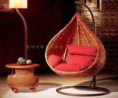 Interior pendurado cadeira - móveis de vime rattan simples balançou a cadeira de vime pendurada                                                                                                                                                                                 More