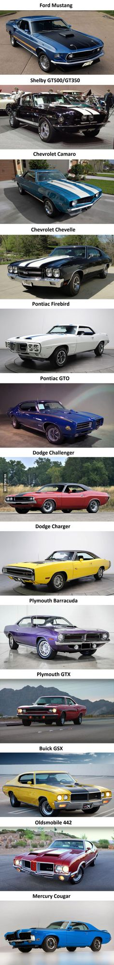 The Most Iconic Muscle Cars - dream cars - Auto Muscle Cars Vintage, Vintage Cars, Antique Cars, Pontiac Gto, Chevrolet Chevelle, Chevy, Dream Cars, Jaguar E Typ, Sweet Cars