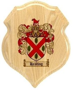 Keating Coat of Arms Plaque / Family Crest Plaque