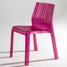 "Kartell Frilly Chair. Not quite the ""rain"" effect I was trying to find but still cute. You can use them outside as well, so they would be fun to use as patio seating....but I wouldn't leave them outside."