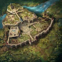 Landscape Ideas City Fantasy Art 26 Ideas For 2019 Fantasy City Map, Fantasy Town, Fantasy World Map, Fantasy Castle, Fantasy Places, High Fantasy, Medieval Fantasy, Fantasy Girl, Fantasy Hotel