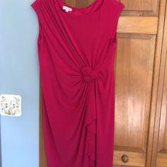 Gorgeous, figure flattering hot pink dress!! Jones studio gorgeous knit dress. Great details, gently worn, perfect condition, needs a new home! Jones Studio Dresses